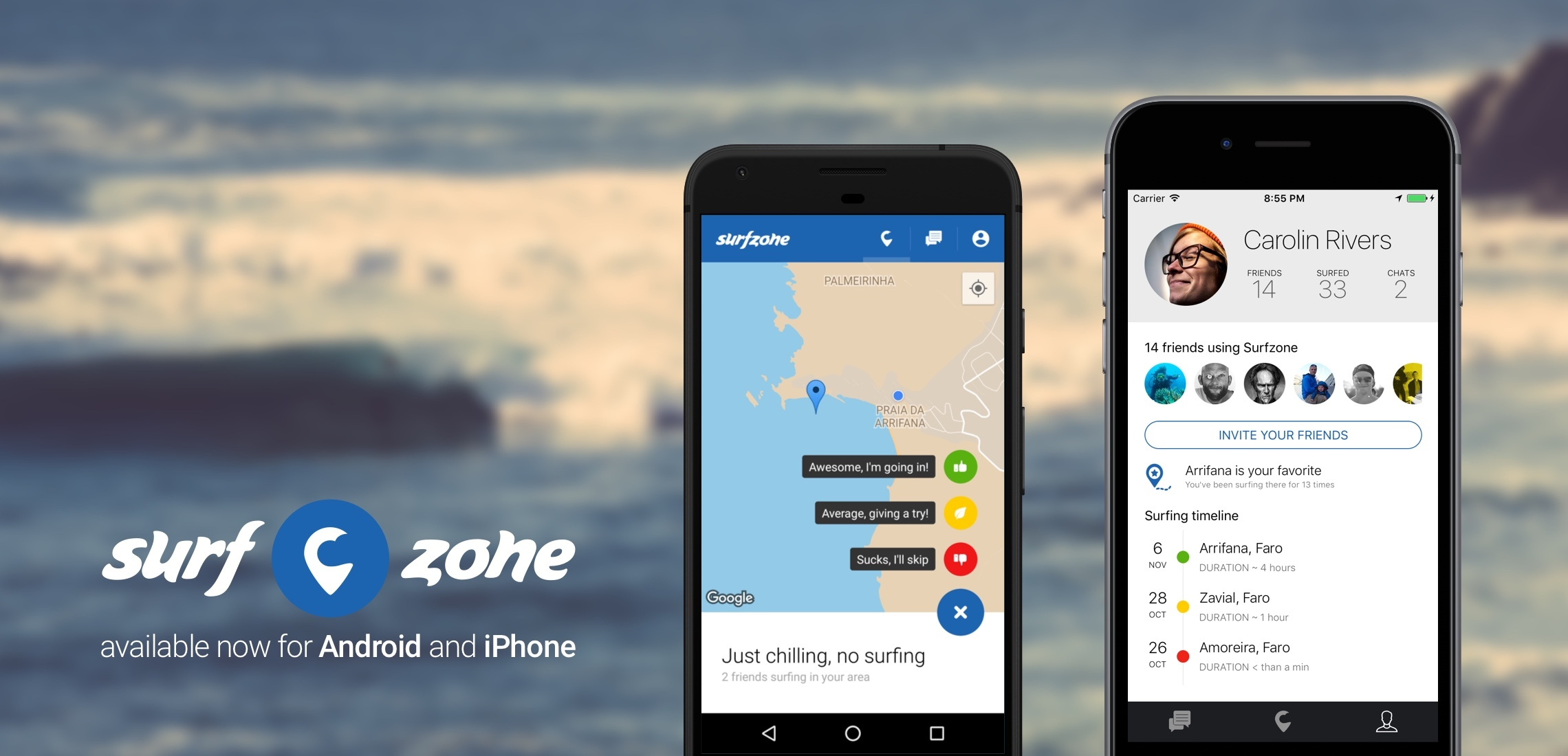 Surfzone android iphone app 2